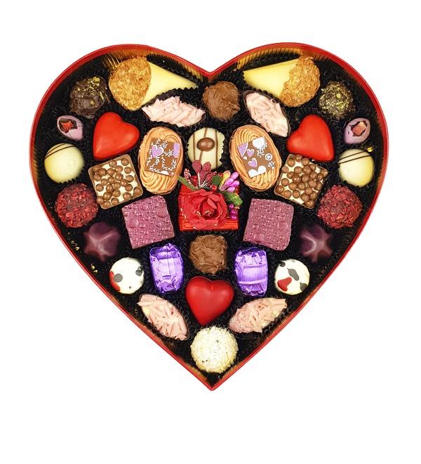 Конфеты ручной работы из бельгийского шоколада Сердце желаний – фото № 2