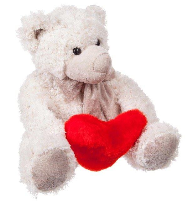 Soft toy Samuel Teddy Bear with Heart (28 cm) – photo #3