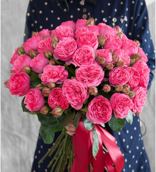Букет пионовидных роз Пиано – фото № 1