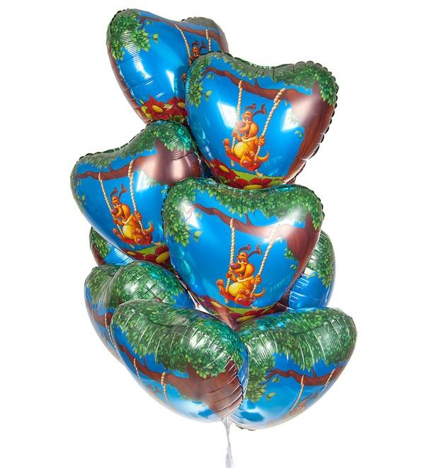 Букет шаров Влюблённый пёс (9 или 18 шаров) – фото № 1