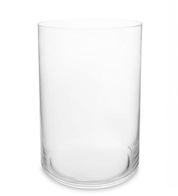 Glass vase-cylinder (30 cm) – photo #1