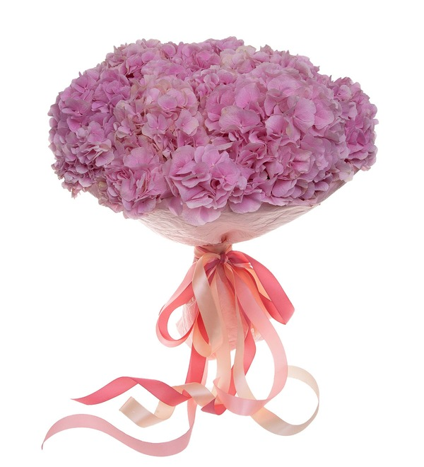 Bouquet-solo of pink hydrangeas (5,7,9,15,25 or 35) – photo #3