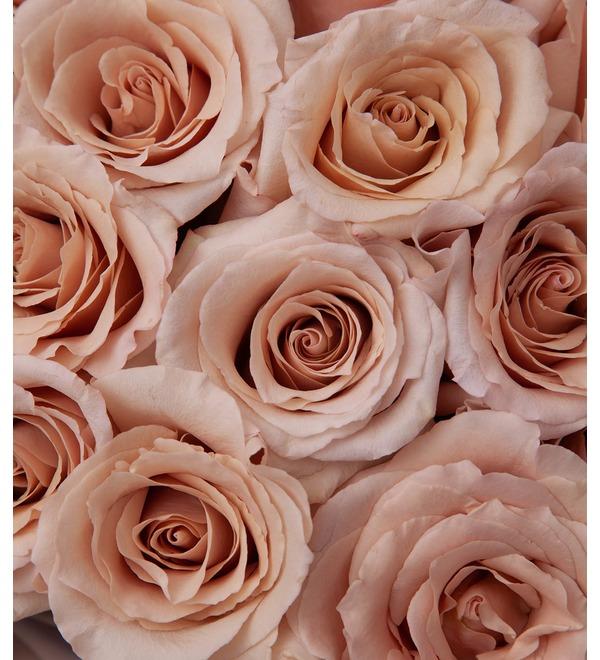 Букет-соло пионовидных роз Quicksand (9,15,25,35,51 или 75) – фото № 3
