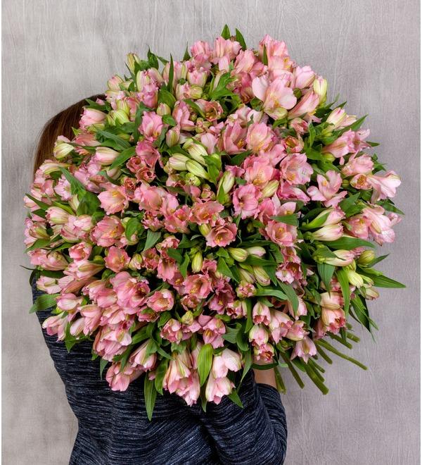 Букет-соло Розовые альстромерии (15,25,35,51,75 или 101) – фото № 1