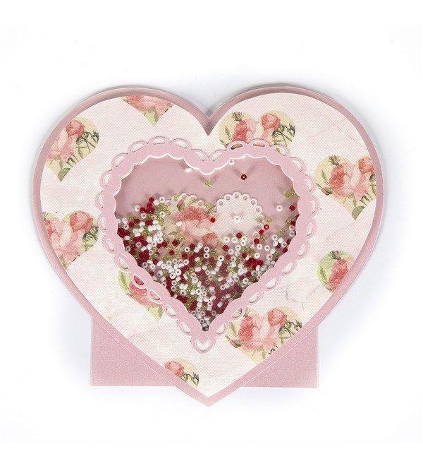 Handmade greeting card Loving heart – photo #1