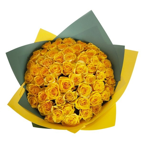 Bouquet-solo Yellow roses (25.51.75 or 101) – photo #3