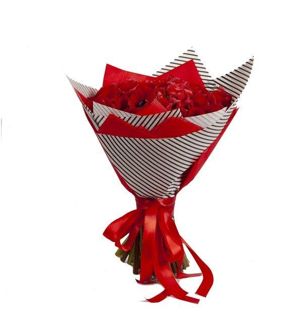 Букет-соло Красные анемоны (15,25,51 или 75) – фото № 4