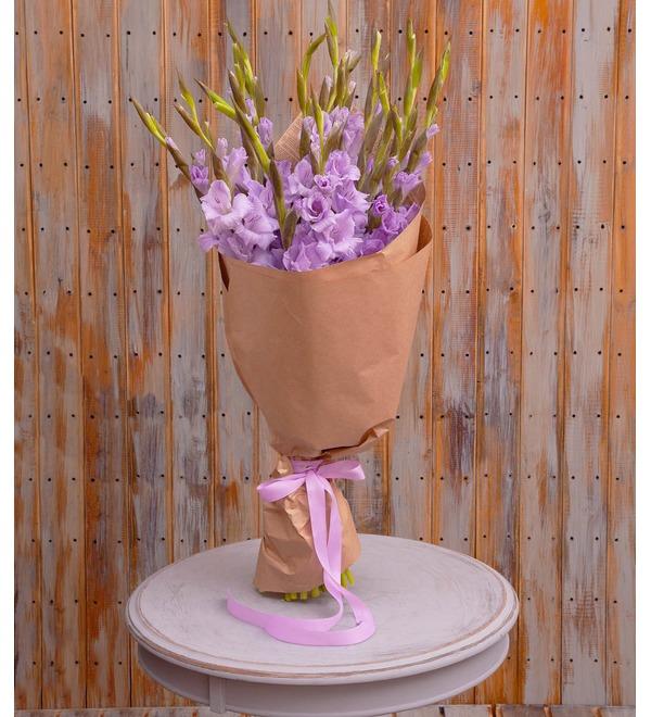 Bouquet-solo of purple gladioli (5,7,9,15,25 or 35) – photo #1