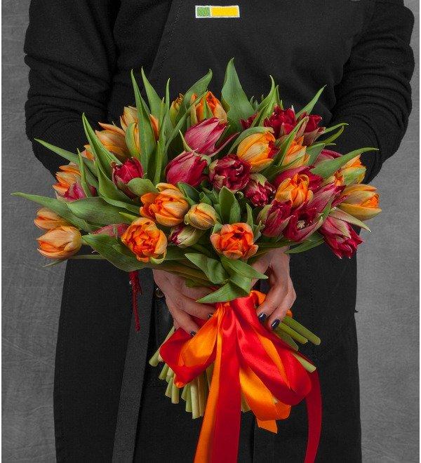 Букет-дуэт тюльпанов Королева (25,35,51,75 или 101) – фото № 1