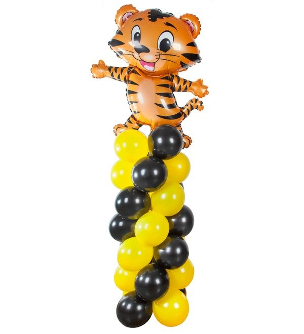 Composition of balls Tiger – photo #1