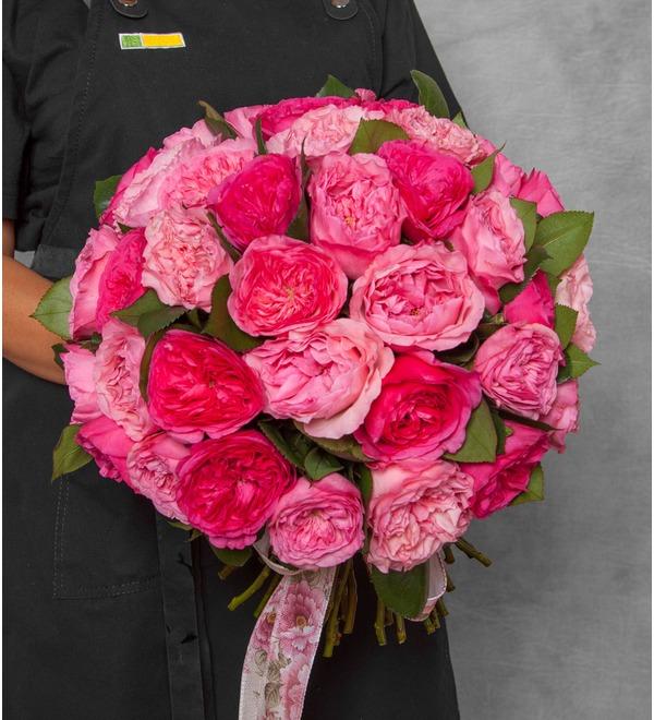 Букет из пионовидных роз Великолепие (15, 25 или 51) – фото № 1
