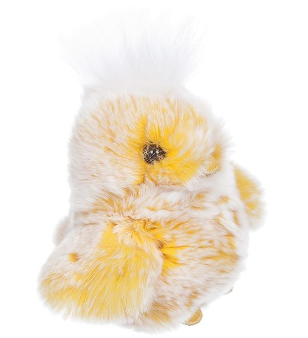 Игрушка из натурального меха Цыпленок – фото № 3