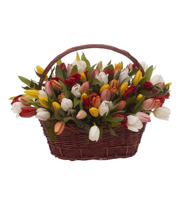Композиция Яркие тюльпаны (51,101 или 201) – фото № 4