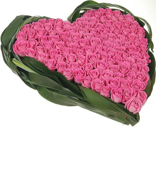 Композиция из роз Яркая любовь – фото № 3