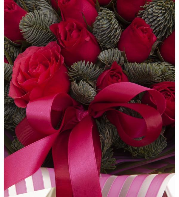 Букет-соло роз Вишневый аромат (15,25,35,51,75 или 101) – фото № 3