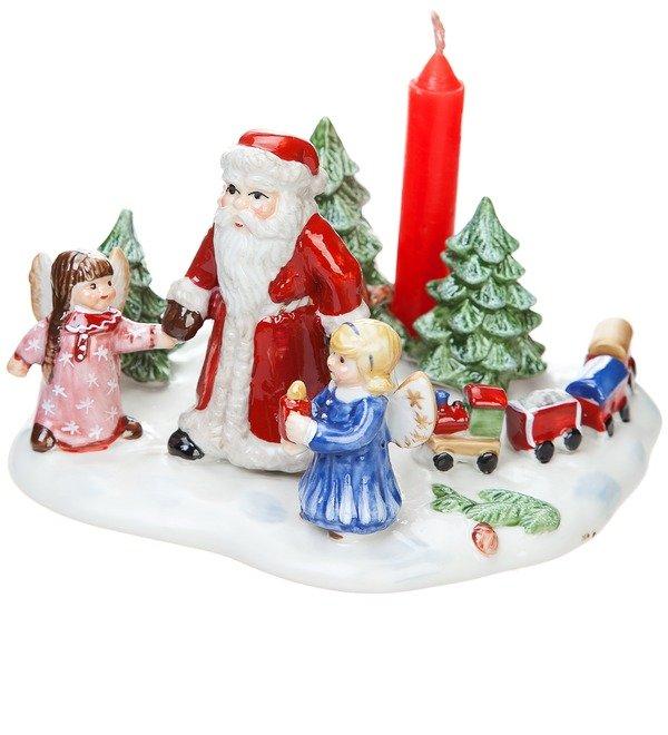 Санта с детьми со свечой (фарфор) (Villeroy&Boch, Франция) – фото № 2