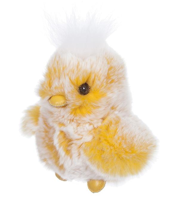 Игрушка из натурального меха Цыпленок – фото № 1