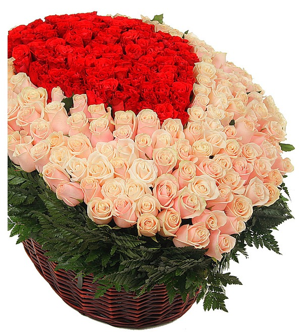 Композиция из 1501 розы Цветок желаний – фото № 2
