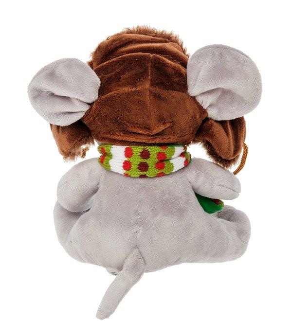 Мягкая игрушка Мышонок в ушанке – фото № 2
