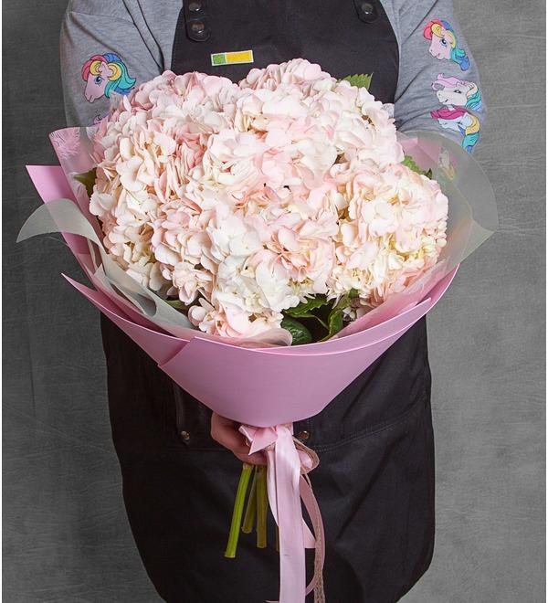 Букет розовых гортензий (5, 7 или 9) – фото № 1