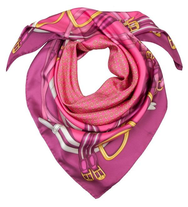 Шелковый платок GUCCI Милые радости (Италия, 90х90 см) – фото № 2
