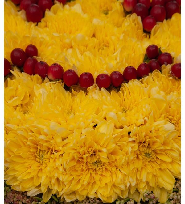 Цветочный смайлик Влюблённость – фото № 2