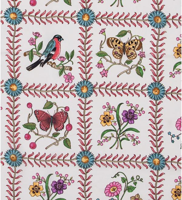 Шелковый платок GUCCI Летняя рапсодия (Италия, 90х90 см) – фото № 2