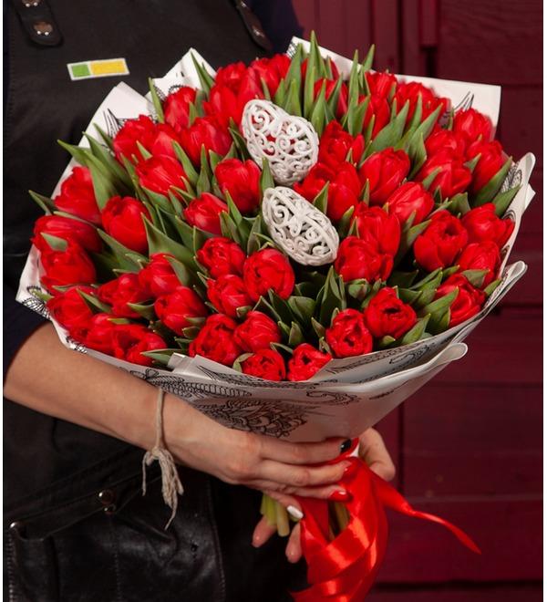 Букет-соло Тюльпаны Largo (25,51,75 или 101) – фото № 1