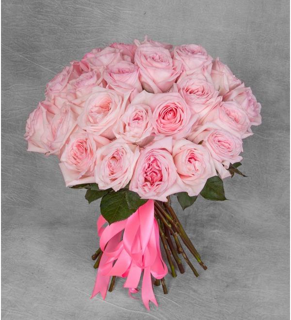 Букет ароматных пионовидных роз Pink OHara (15, 25 или 51) – фото № 1