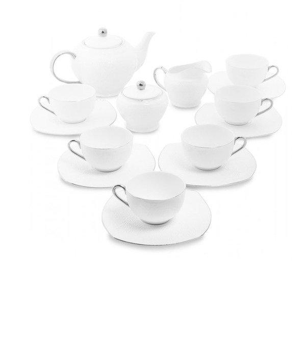 Чайный сервиз на 6 персон Ордженто бьянко – фото № 1