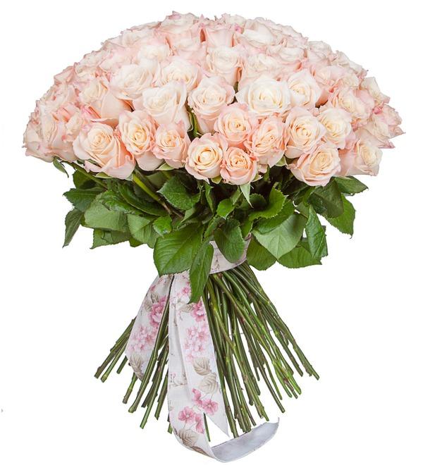 Букет-соло роз Medeo (25,35,51,75 или 101) – фото № 4