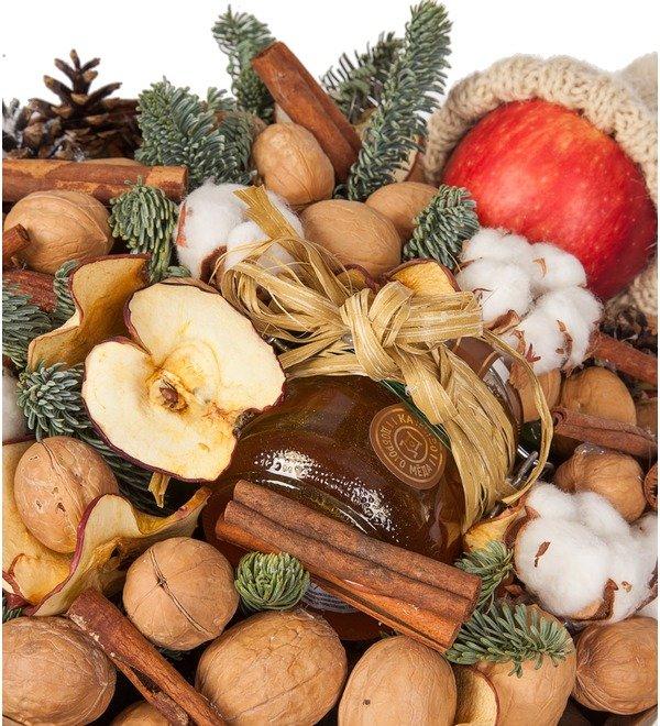Букет из орехов, сухофруктов и мёда Зимнее чаепитие – фото № 2