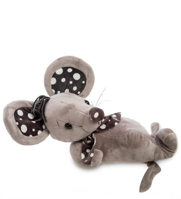 Soft toy Mouse with a scarf – photo #1