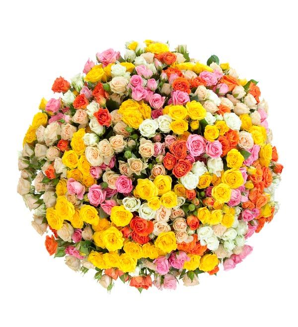 Букет из кустовой розы Огненный – фото № 2