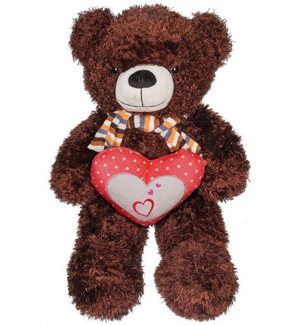 Мягкая игрушка Медведь с сердцем (60 см) – фото № 1