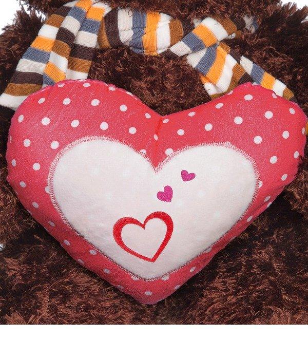 Мягкая игрушка Медведь с сердцем (60 см) – фото № 4