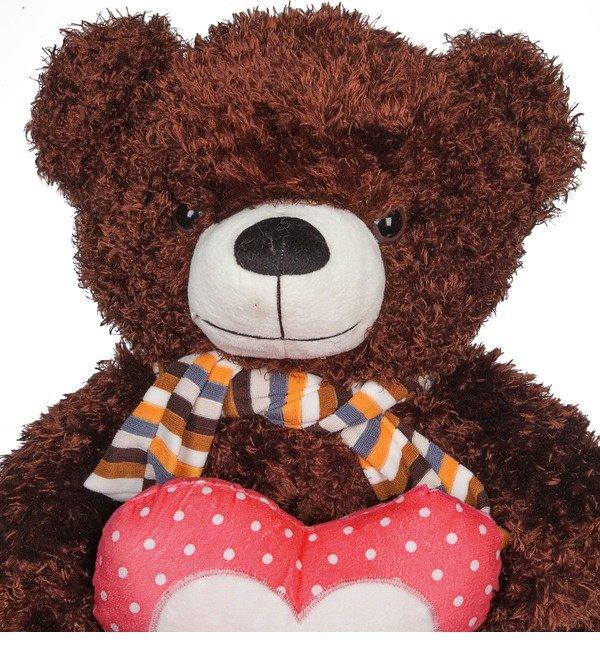 Мягкая игрушка Медведь с сердцем (60 см) – фото № 3
