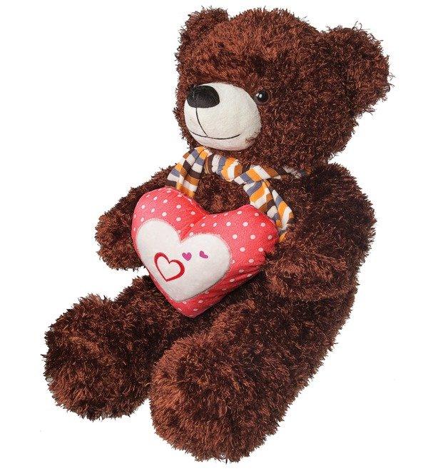 Мягкая игрушка Медведь с сердцем (60 см) – фото № 2