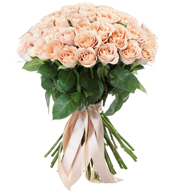Bouquet of roses Cappuccino (25, 51 или 101) – photo #2
