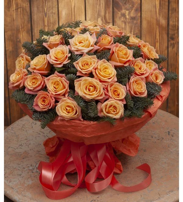Букет-соло роз Мисс Пигги (15,25,35,51,75 или 101) – фото № 1