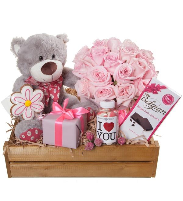 Подарочное кашпо с букетом Любовь сильнее всего! – фото № 5