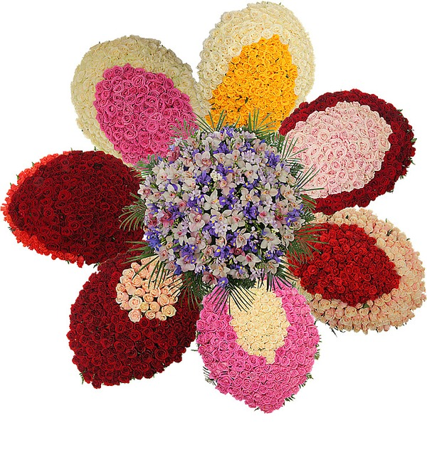 Композиция из роз и орхидей Цветок желаний – фото № 3