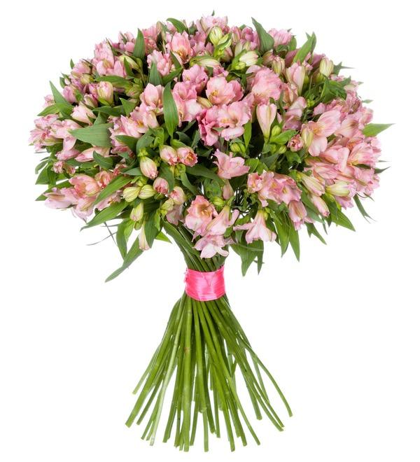 Букет-соло Розовые альстромерии (15,25,35,51,75 или 101) – фото № 2