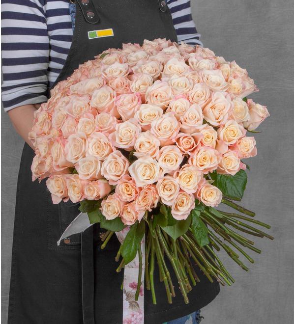 Букет-соло роз Medeo (25,35,51,75 или 101) – фото № 1