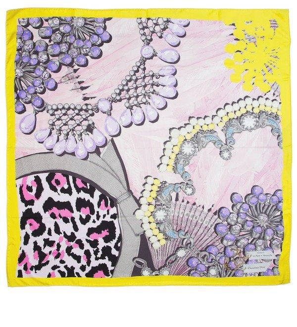 Шелковый платок Christian Dior (Италия, 90х90 см) – фото № 1