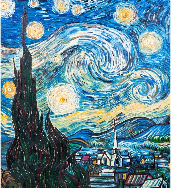 Картина В. Ван Гога Звёздная ночь (110х90см.) – фото № 4